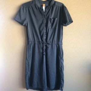 Lucy Charcoal Tie Waist Dress Large